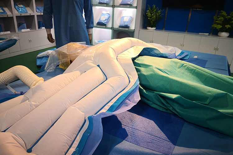 Half Upper Body Patient Warming Blanket During Procedures At Body Lower Parts