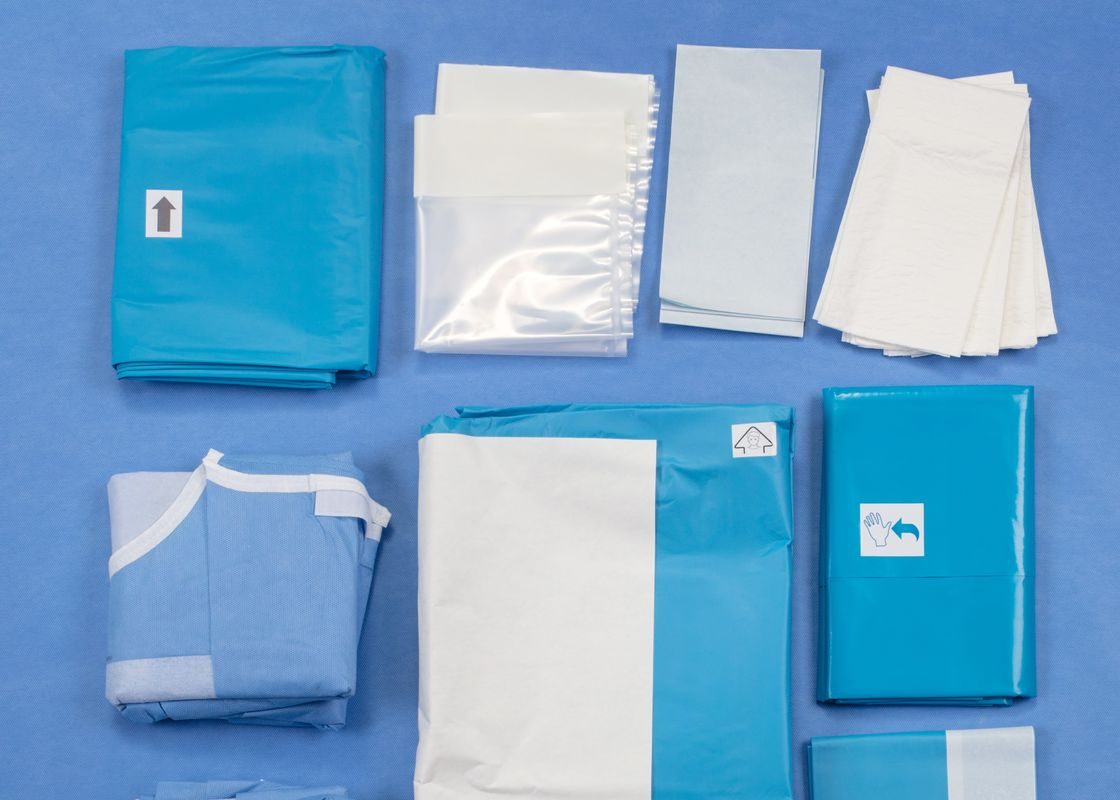 Laparoscopy Abdominal Medical Procedure Packs Disposable Sterile Surgical Drapes
