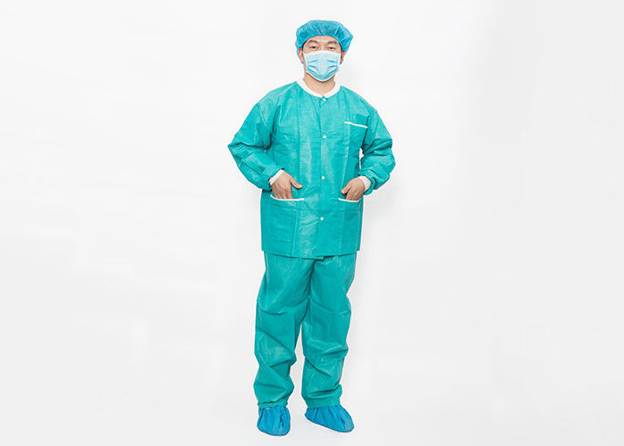 Long Sleeve SMS / Spunlace XXXL Disposable Surgical Gown