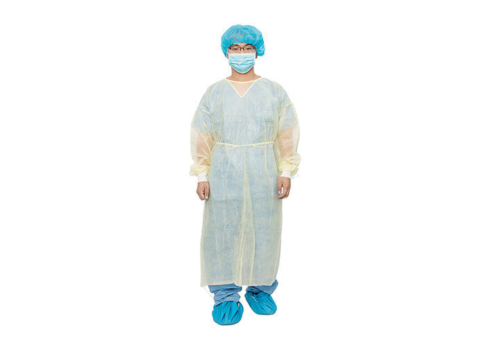 Single Use Yellow 18 Gram 60 Gram Medical Isolation Gown