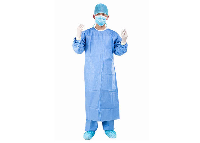 Sterile Blue 35g 45g SMS SMMS Disposable Surgical Gown