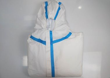 Anti Bacteria Disposable Surgical Gown Protective Doctors Suits With Blue Tape