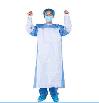 Sterilization Blue EO SMS Disposable Surgical Gown